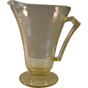 "REDUCED Hazel-Atlas Amber Depression Glass Pitcher ""Poppy"" Pattern"