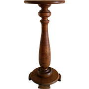 REDUCED Early 20th Century Oak Plant Stand