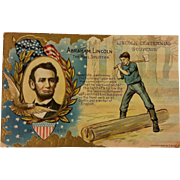 REDUCED Lincoln Commemorative Postcard made for his 100th Birthday