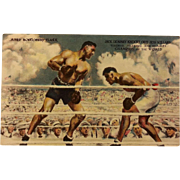 REDUCED Post Card of Dempsey Vs. Willard Fight with Dempsey Autograph