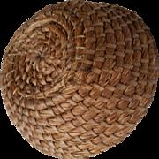 Two Primitive Rye Grass Baskets