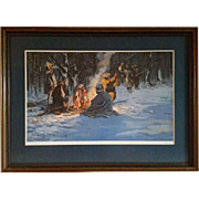 "Civil War Print by Dale Gallon ""Winter Offerings"""
