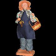 Claude Carbonel Clay Doll Santon De Provence France, Male Farmer
