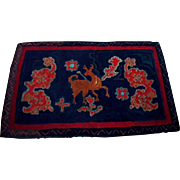 Unique Early Hand Hooked Rug or Wall Hanging.