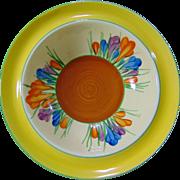 SALE Clarice Cliff 'Crocus' Hand Painted 'Bizarre' Dessert Bowl. Early 1930's