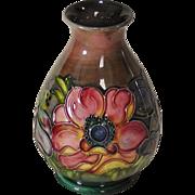 Moorcroft Anemone Pattern Vase with Flambé Glaze c1947-1953