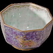 Wedgwood Fairyland Lustre Miniature Octagonal Bowl - Designed by Daisy Makeig-Jones Circa 1915
