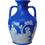 REDUCED Stunning Wedgwood Dark-Blue Jasper Dip Portland Vase - Circa 1839 - 1891