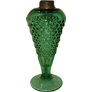 Antique Green Glass Whale Oil Lamp