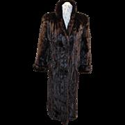 Vintage Full length Mahogany Mink Coat