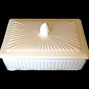 White Wedgwood Box, Made In England, Etruria & Barlaston, EDME Pattern