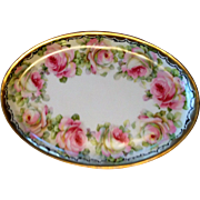 Prussian Hand Painted Oval Platter, late 1800s