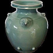 Vintage Large 'Celadon' Pottery Jar