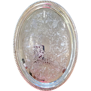 International Silver Co. Oval Silver Plate Tray.