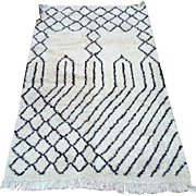 SALE Nursery rug Authentic traditional Handmade Beni Ourain Moroccan rug 5x8 Traditional Rug .