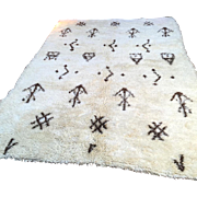 SALE Vintage Moroccan Kilim Berber Handmade Wool Rug 6x10 Alfombras Berberes Beni ourain rug .