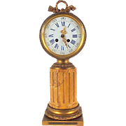 1880s French Clock Inspired by both Louis XVI and Napoleon III Styles