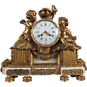 Exquisite 19th Century Bronze Mantle Clock