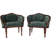 Pair of Early 20th Century Bergeres