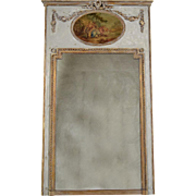 Late 19th Century French Louis XVI Trumeau Mirror
