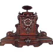 19th Century French Mantle Clock in Renaissance Style