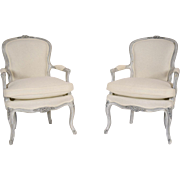 Pair of French Louis XV-Style Armchairs