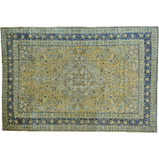 Antique Persian Tabriz Even Wear Hand Knotted Oriental Rug Sh27486