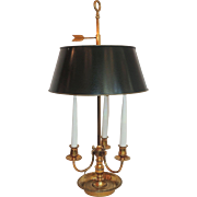 Bouillotte Two-Light Lamp with Three Candles