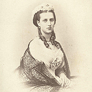 19th Century Royalty 1860s CDV Photo Princess Alexandra
