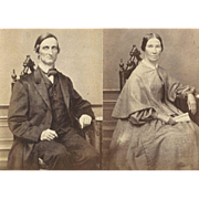 LOT of 2 1860s CDVs MARRIED Couple FINE-PERIOD Fashions