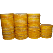REDUCED Vintage Catalin~Bakelite Butterscotch Poker Chips Beautiful Marbling