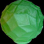 Art Deco Green Crackle Glass Lamp Shade
