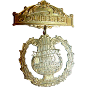 1920 Norway Norwegian Sangerfest Convention Medal Duluth MN