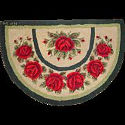 Vintage Rose~Roses Hand Hooked Rug