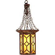 Large Arts and Crafts Lantern by Herwig