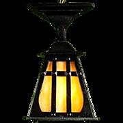 Triangular Arts and Crafts Porch Lantern