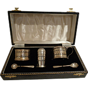 Vintage 1957 Sterling Silver Cruet Condiment Set