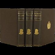 Antique Works of Victor Hugo in Brown, Set of 3