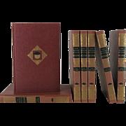 Master's Pictorial Encyclopedia Vintage Book Set, S/7