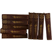 Decorative Book Collection of Works of J. W. Riley, Set of 9