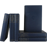 Vintage Blue Book Set  History of the USA, S/6