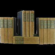 Vintage Works of George Bernard Shaw Beige & Blue Set of 12