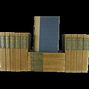 Vintage Works of George Bernard Shaw Beige & Blue Set of 13