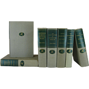 Vintage Set of Shades of Grey & Neutral Modern Library Series, S/7