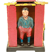 Vintage Cast Iron Reproduction Uncle Tom's Cabin Mechanical Bank c.1950's