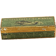 Vintage Al Foss Fishing Lure with Tin Box