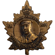 Canadian Forces Reunion Pin 1934