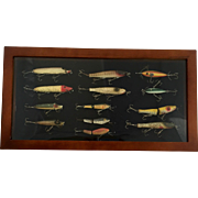Vintage Fishing Lure Display