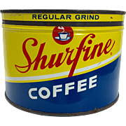 Vintage Shurfine Coffee Tin