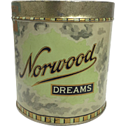 Vintage Norwood Tobacco Tin c. 1920's